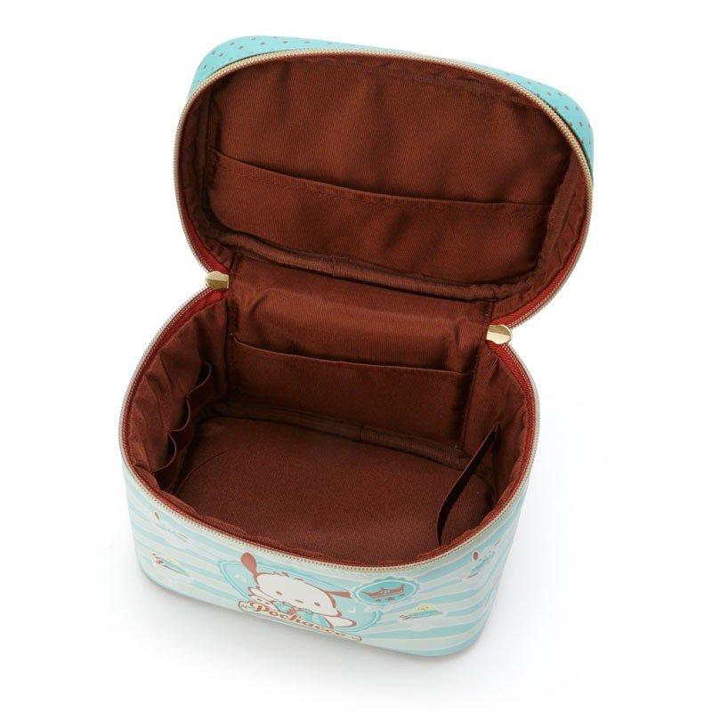 〔小禮堂〕帕恰狗 皮質掀蓋化妝箱《綠棕》化妝包.收納包.薄荷巧克力系列 2