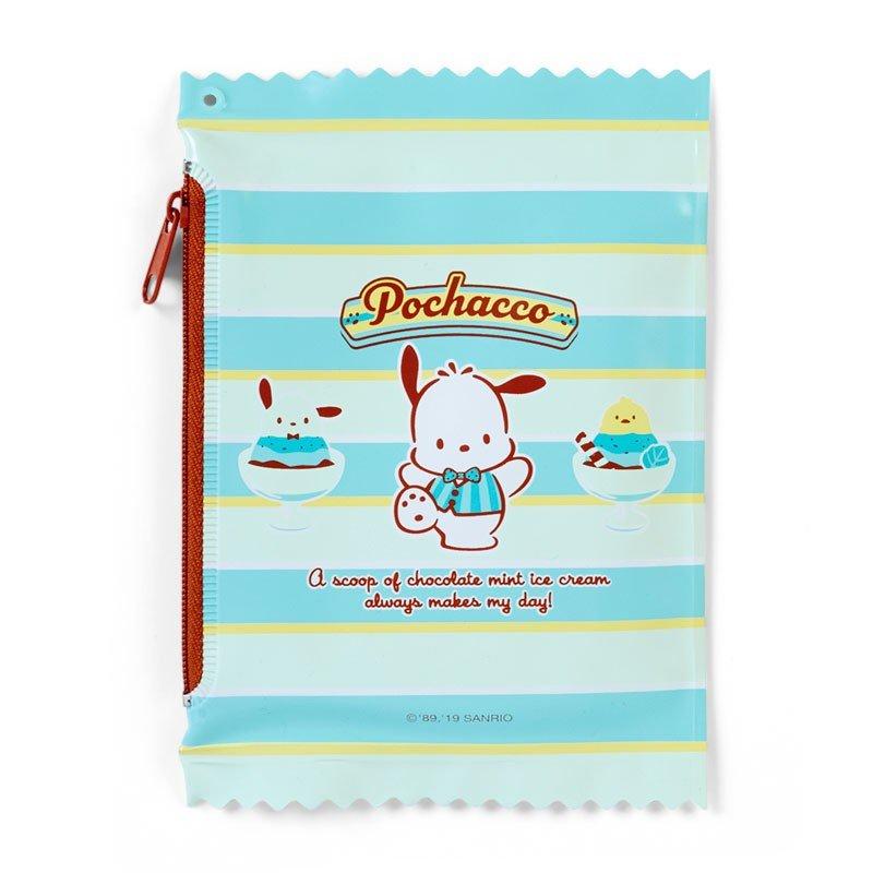 〔小禮堂〕帕恰狗 純棉割絨圓角小方巾收納包組《綠》手帕.薄荷巧克力系列 3