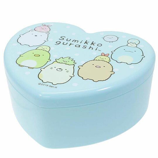 〔小禮堂〕角落生物 愛心 塑膠掀蓋收納盒附鏡《綠.站姿》飾品盒.珠寶盒