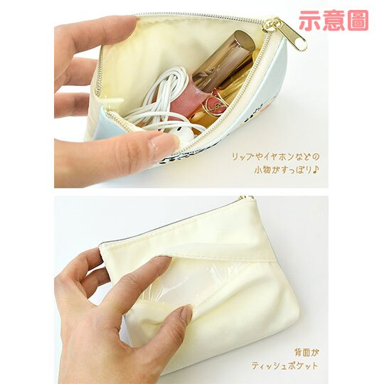 〔小禮堂〕迪士尼 小熊維尼 皮質帆布面紙零錢包《黃綠.檸檬》化妝包.面紙包 3