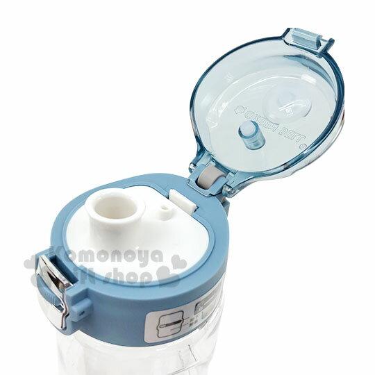 〔小禮堂〕綠貝 透明彈蓋冷水瓶附腕繩《藍蓋》550ml.水瓶.隨身瓶 2