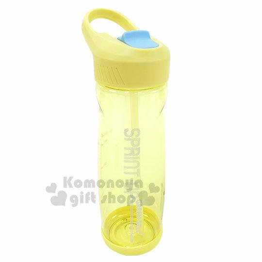 〔小禮堂〕綠貝 透明彈蓋提把冷水瓶《黃》700ml.水瓶.隨身瓶.運動水壺 0