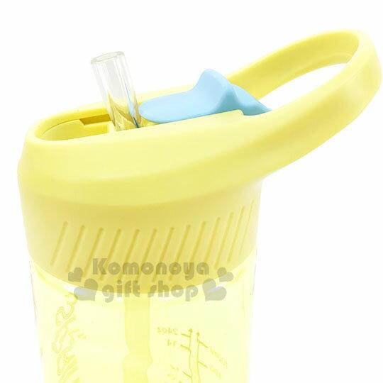 〔小禮堂〕綠貝 透明彈蓋提把冷水瓶《黃》700ml.水瓶.隨身瓶.運動水壺 2
