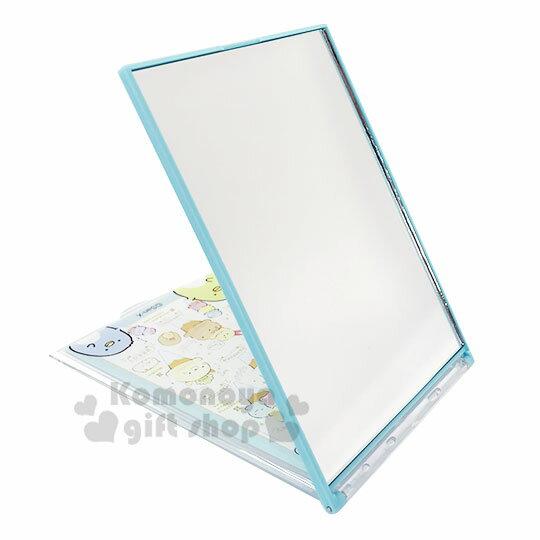 〔小禮堂〕角落生物 長方形塑膠折疊鏡《米綠.冰淇淋》立鏡.折鏡.桌鏡 2