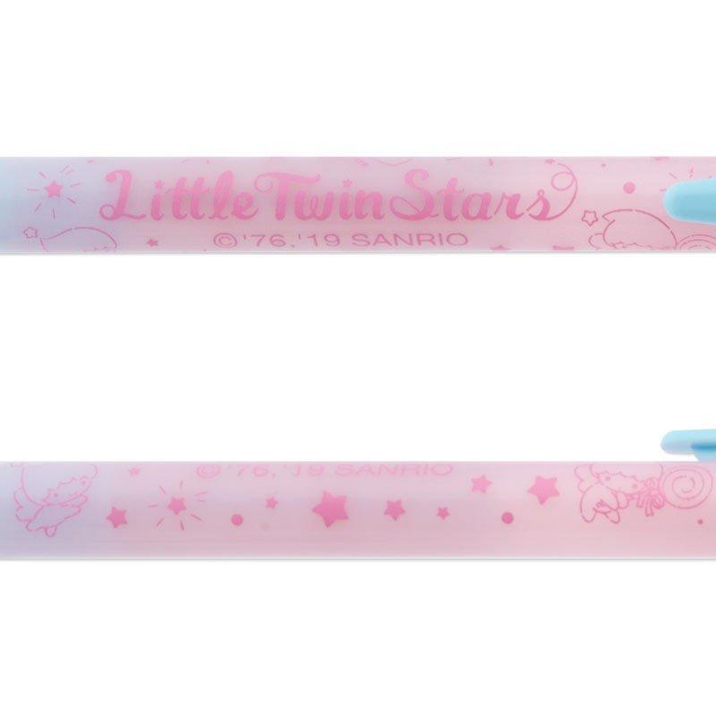 〔小禮堂〕雙子星 日製水晶球造型原子筆《粉紫》黑筆.自動筆.星星銀河系列 4