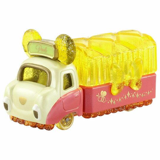 小禮堂 迪士尼 小熊維尼 TOMICA小汽車水晶卡車《黃紅》珠寶車.公仔.玩具.模型