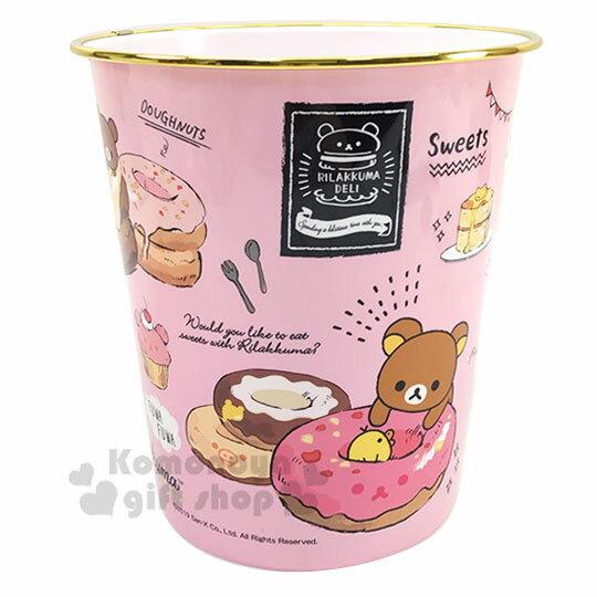 〔小禮堂〕角落生物 圓形無蓋垃圾桶《金黃.冰淇淋店》書報桶.收納桶.置物桶 1