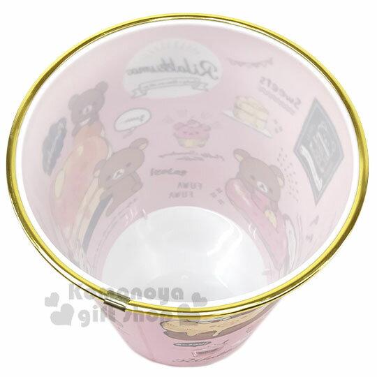 〔小禮堂〕角落生物 圓形無蓋垃圾桶《金黃.冰淇淋店》書報桶.收納桶.置物桶 2