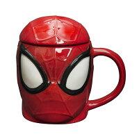 Marvel 廚房,生活雜貨與文具用品推薦到小禮堂 漫威英雄 Marvel蜘蛛人 大臉造型陶瓷馬克杯附蓋《紅黑》450ml.茶杯.咖啡杯就在小禮堂-樂天旗艦店推薦Marvel 廚房,生活雜貨與文具用品