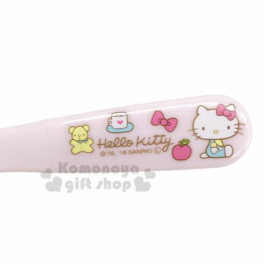 〔小禮堂〕Hello Kitty 兒童塑膠叉子《淡粉.側坐》嬰幼兒食器.兒童餐具 2