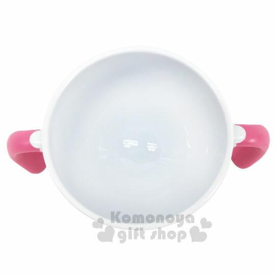 〔小禮堂〕Hello Kitty 兒童雙耳塑膠學習碗《白粉.招手》塑膠碗.兒童碗 2