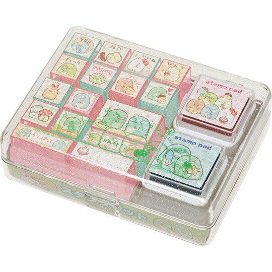 〔小禮堂〕角落生物 盒裝橡皮印章組《綠.直紋》印泥.玩具章.橡皮章 0