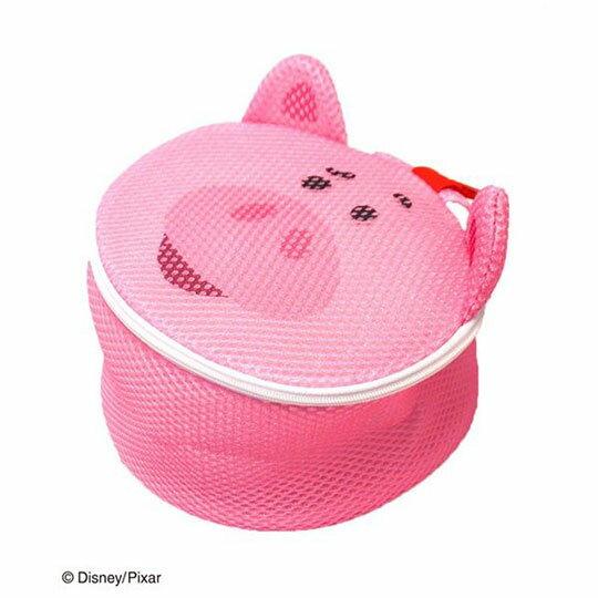 〔小禮堂〕玩具總動員 培根豬 大臉造型圓筒洗衣袋《粉》洗衣網袋 0