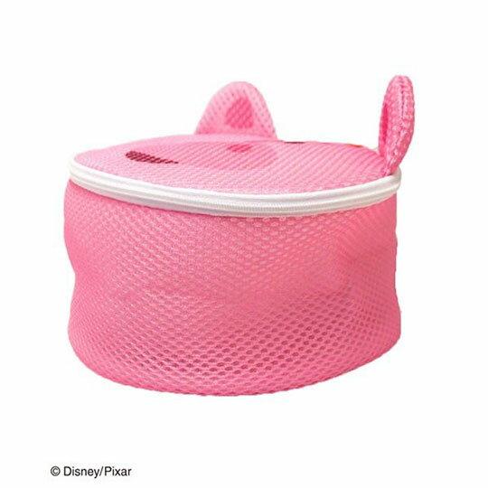 〔小禮堂〕玩具總動員 培根豬 大臉造型圓筒洗衣袋《粉》洗衣網袋 1
