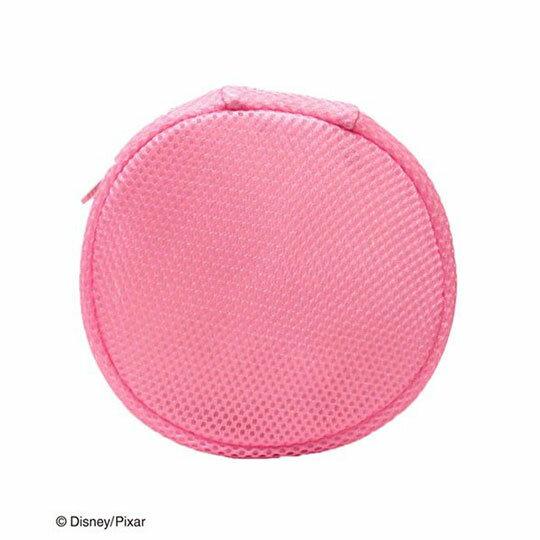 〔小禮堂〕玩具總動員 培根豬 大臉造型圓筒洗衣袋《粉》洗衣網袋 3