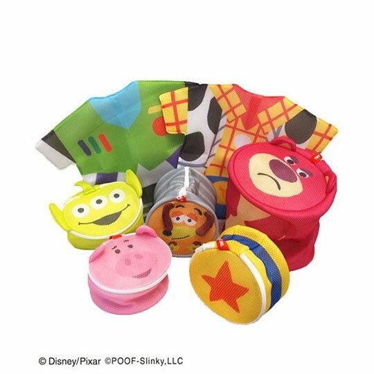 〔小禮堂〕玩具總動員 培根豬 大臉造型圓筒洗衣袋《粉》洗衣網袋 5