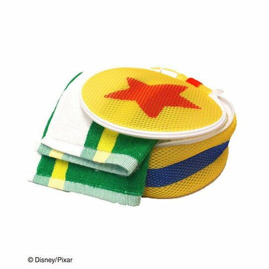 〔小禮堂〕玩具總動員 星星 圓筒洗衣袋《黃橘》洗衣網袋 3