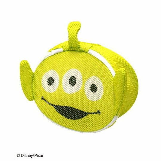 〔小禮堂〕玩具總動員 三眼怪 大臉造型圓筒洗衣袋《綠》洗衣網袋 0
