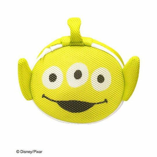 〔小禮堂〕玩具總動員 三眼怪 大臉造型圓筒洗衣袋《綠》洗衣網袋 1