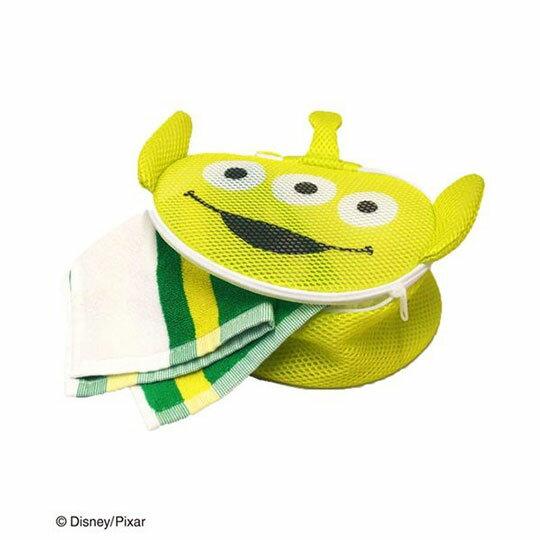 〔小禮堂〕玩具總動員 三眼怪 大臉造型圓筒洗衣袋《綠》洗衣網袋 4