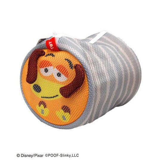 〔小禮堂〕玩具總動員 彈簧狗 大臉造型圓筒洗衣袋《灰橘》洗衣網袋 0