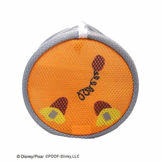 〔小禮堂〕玩具總動員 彈簧狗 大臉造型圓筒洗衣袋《灰橘》洗衣網袋 2