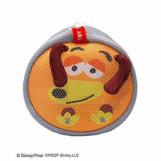 〔小禮堂〕玩具總動員 彈簧狗 大臉造型圓筒洗衣袋《灰橘》洗衣網袋 3