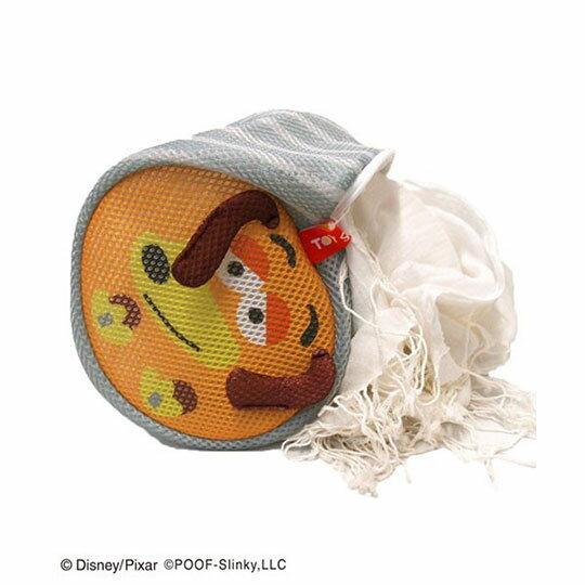〔小禮堂〕玩具總動員 彈簧狗 大臉造型圓筒洗衣袋《灰橘》洗衣網袋 4