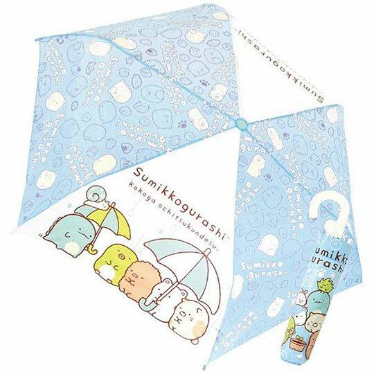 〔小禮堂〕角落生物 彎把防風傘骨折疊傘《藍.看盆栽》折傘.雨具.雨傘 0