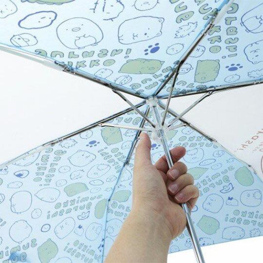〔小禮堂〕角落生物 彎把防風傘骨折疊傘《藍.看盆栽》折傘.雨具.雨傘 2