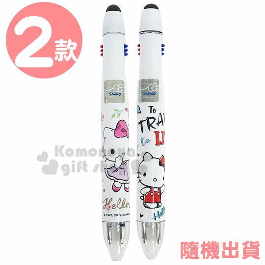 〔小禮堂〕Hello Kitty 雙色觸控原子筆《2款隨機.白》0.8mm.觸控筆.多色筆 0
