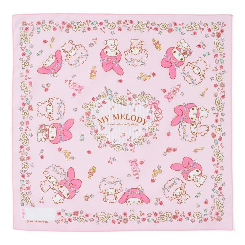 〔小禮堂〕美樂蒂 日製棉質便當包巾《粉.花圈》43x43cm.手帕.餐巾.桌巾 0