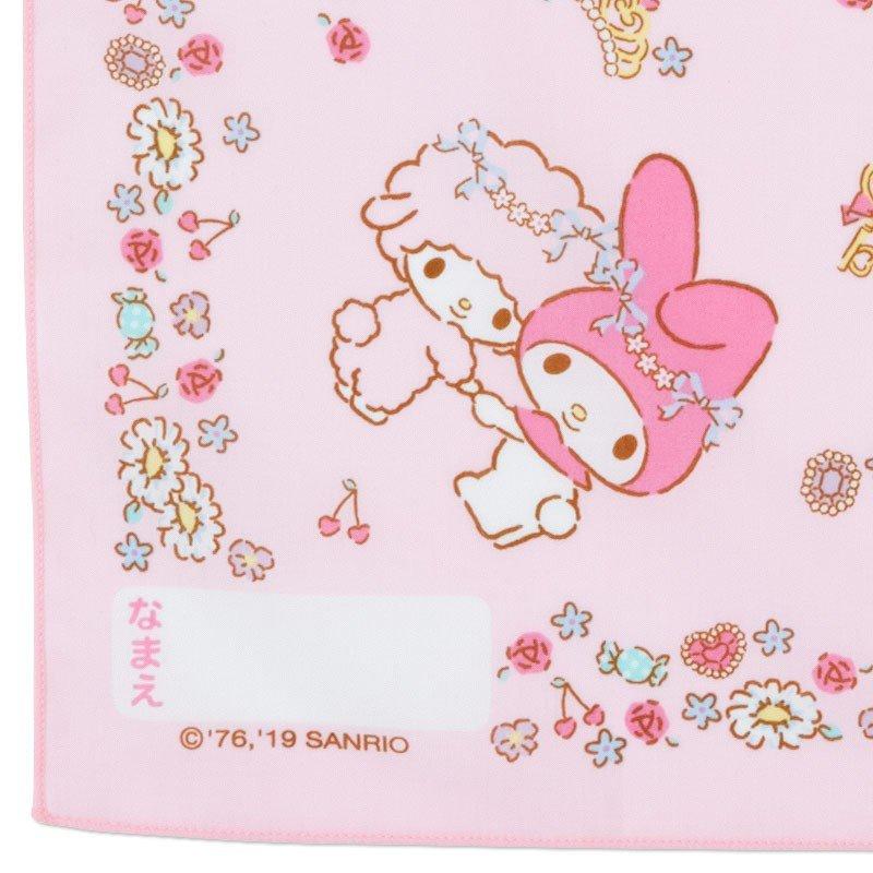 〔小禮堂〕美樂蒂 日製棉質便當包巾《粉.花圈》43x43cm.手帕.餐巾.桌巾 2