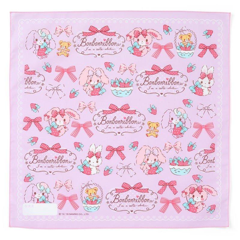 〔小禮堂〕蹦蹦兔 日製棉質便當包巾《粉紫.草莓》43x43cm.手帕.餐巾.桌巾 0
