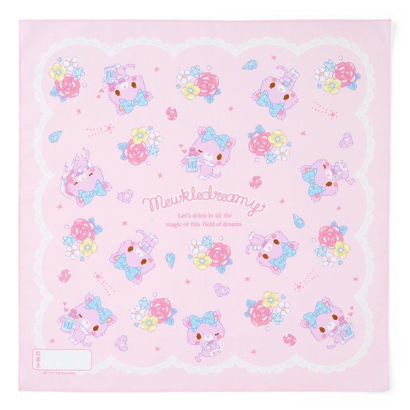〔小禮堂〕甜夢貓 日製棉質便當包巾《紫白.香水瓶》43x43cm.手帕.餐巾.桌巾 0