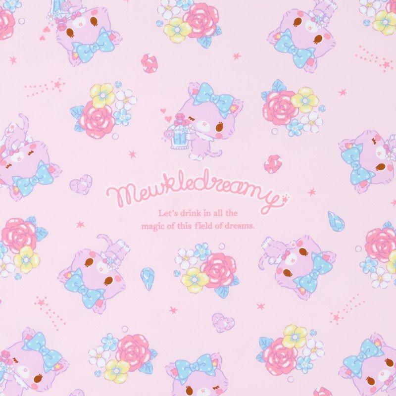 〔小禮堂〕甜夢貓 日製棉質便當包巾《紫白.香水瓶》43x43cm.手帕.餐巾.桌巾 1