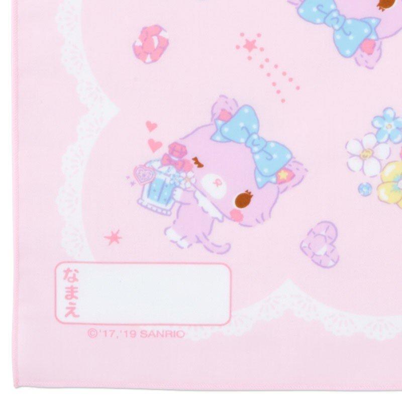 〔小禮堂〕甜夢貓 日製棉質便當包巾《紫白.香水瓶》43x43cm.手帕.餐巾.桌巾 2