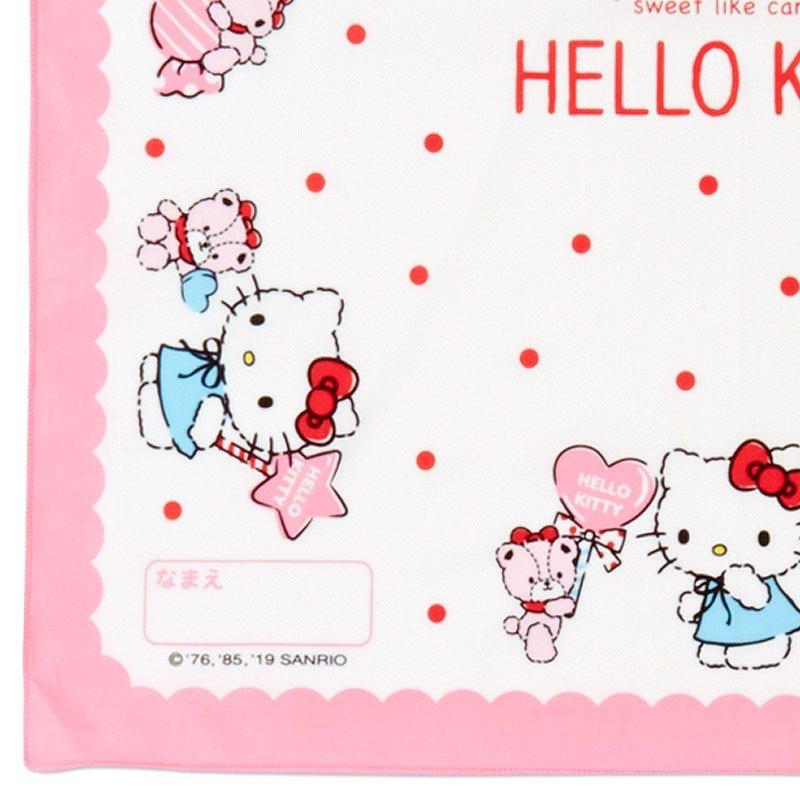 〔小禮堂〕Hello Kitty 日製棉質便當包巾組《3入.粉白.格紋》43x43cm.手帕.餐巾.桌巾 4