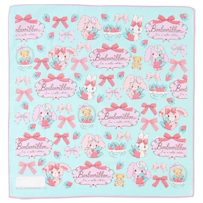 〔小禮堂〕蹦蹦兔 日製棉質便當包巾組《3入.粉綠.草莓》43x43cm.手帕.餐巾.桌巾 1