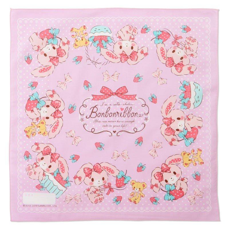 〔小禮堂〕蹦蹦兔 日製棉質便當包巾組《3入.粉綠.草莓》43x43cm.手帕.餐巾.桌巾 3