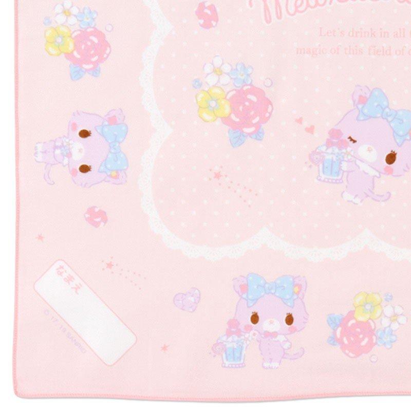 〔小禮堂〕甜夢貓 日製棉質便當包巾組《3入.粉紫.香水瓶》43x43cm.手帕.餐巾.桌巾 4