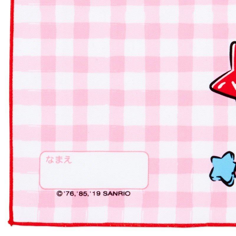 〔小禮堂〕Hello Kitty 日製棉質餐巾手帕《粉白.格紋》25x35cm.桌巾.便當包巾 2