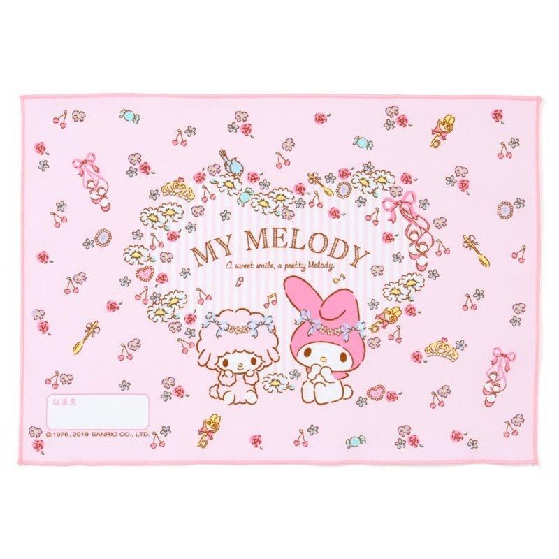 〔小禮堂〕美樂蒂 日製棉質餐巾手帕《粉.花圈》25x35cm.桌巾.便當包巾 0