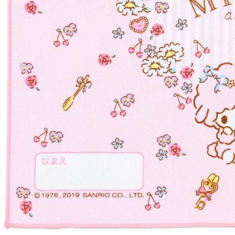 〔小禮堂〕美樂蒂 日製棉質餐巾手帕《粉.花圈》25x35cm.桌巾.便當包巾 2
