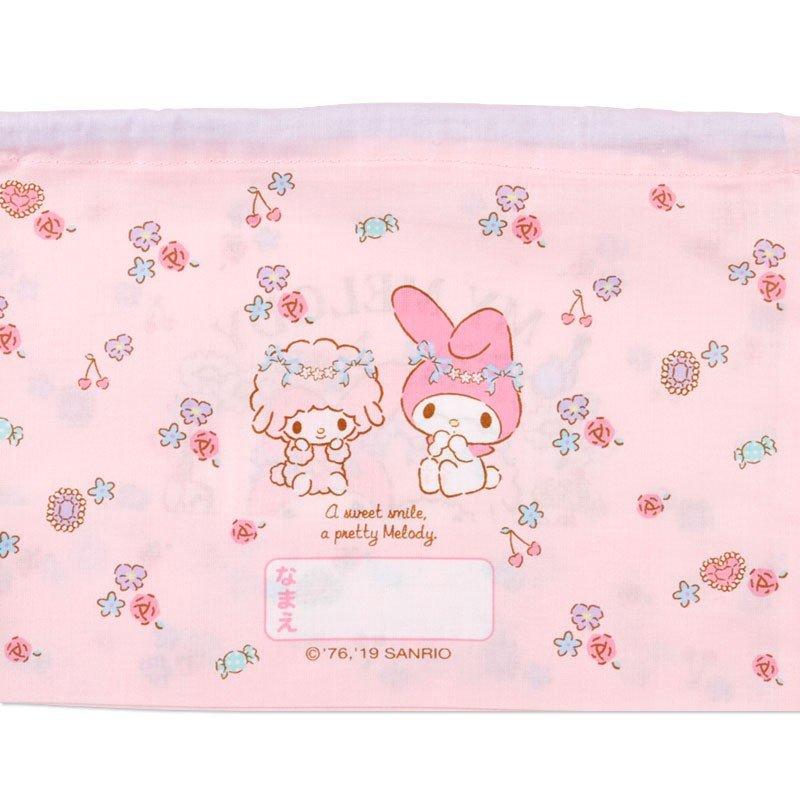 〔小禮堂〕美樂蒂 日製棉質束口便當袋組《2入.粉.花圈》縮口袋.收納袋 5