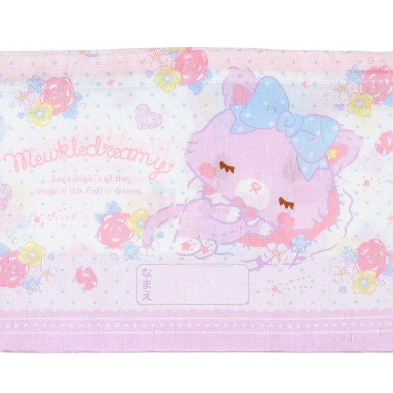 〔小禮堂〕甜夢貓 日製棉質束口便當袋組《2入.紫白.香水瓶》縮口袋.收納袋 4