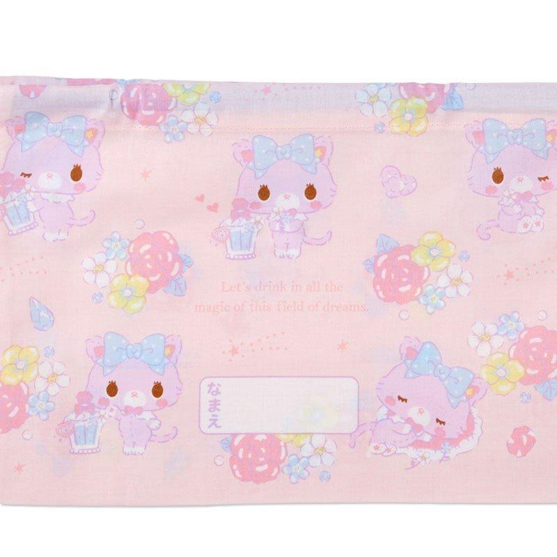 〔小禮堂〕甜夢貓 日製棉質束口便當袋組《2入.紫白.香水瓶》縮口袋.收納袋 5