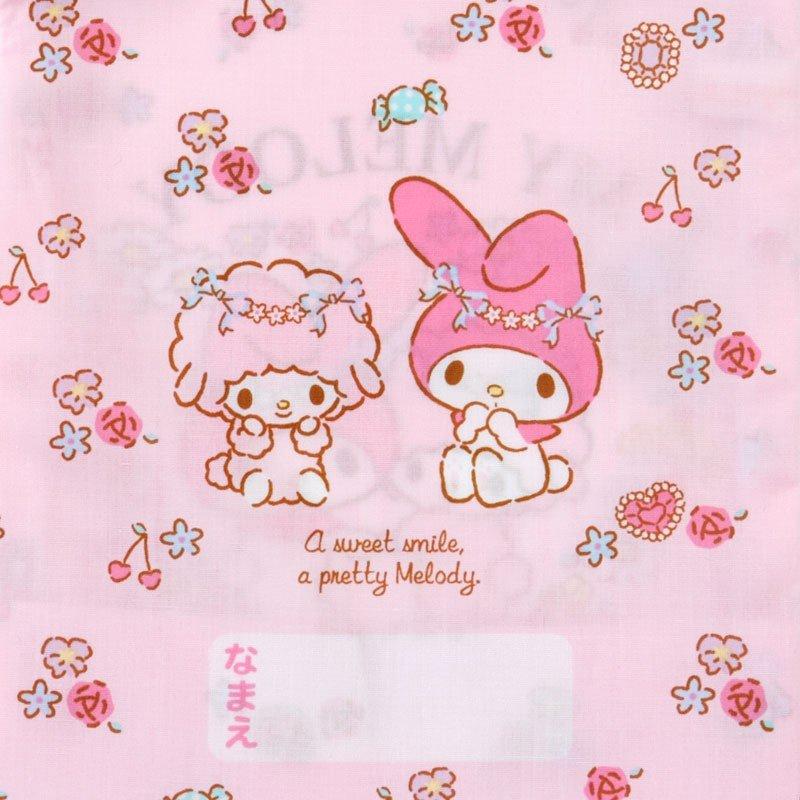 〔小禮堂〕美樂蒂 日製棉質束口袋《粉.花圈》16x20cm.縮口袋.牙刷杯袋 3