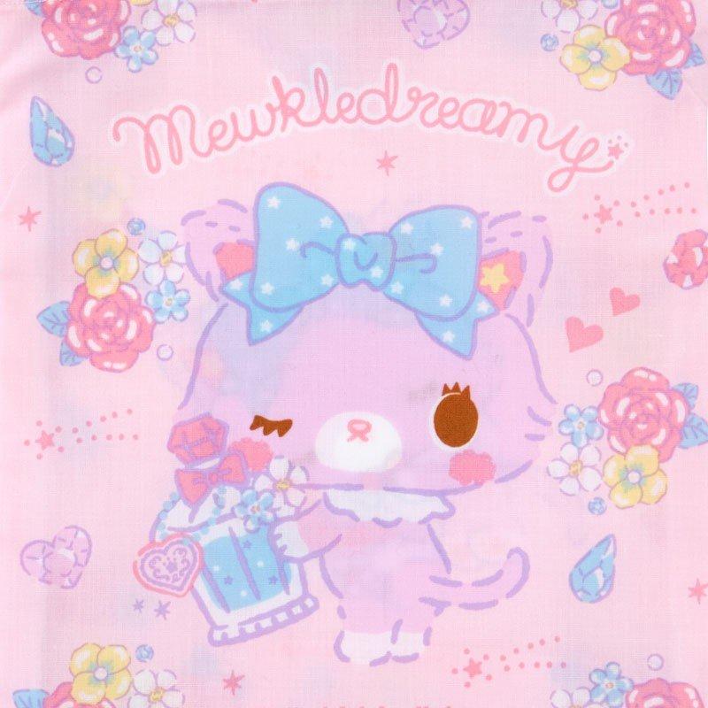 〔小禮堂〕甜夢貓 日製棉質束口袋《粉紫.香水瓶》16x20cm.縮口袋.牙刷杯袋 2