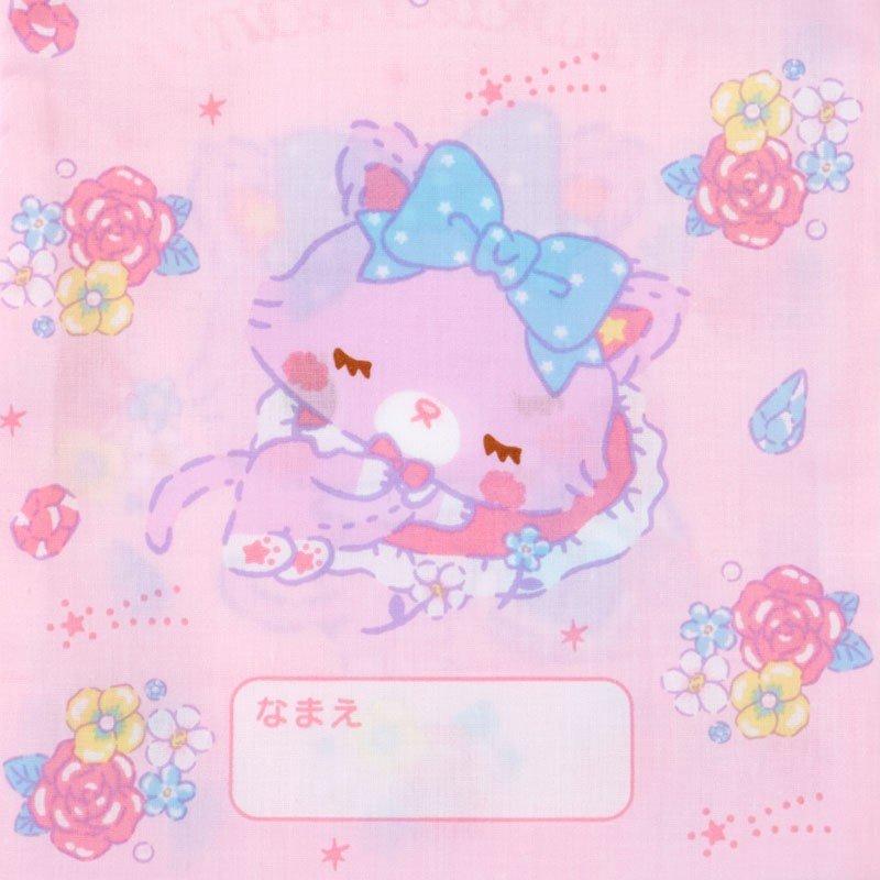 〔小禮堂〕甜夢貓 日製棉質束口袋《粉紫.香水瓶》16x20cm.縮口袋.牙刷杯袋 3